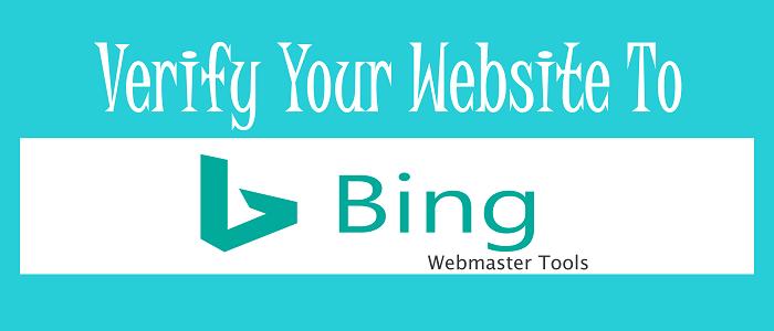 bing webmaster tools verification