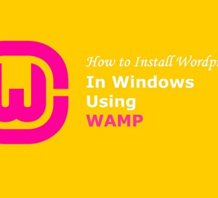 Install WordPress in localhost wamp