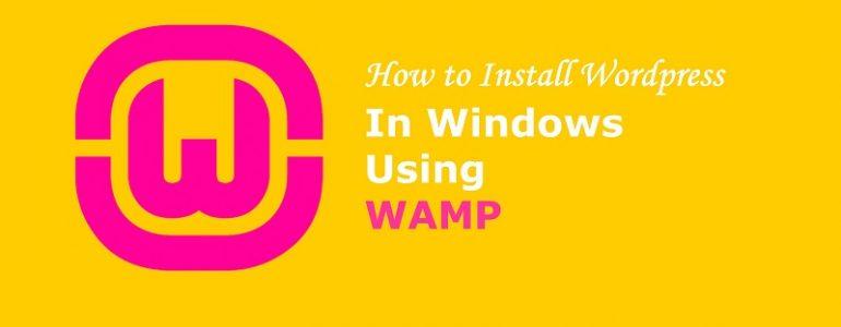 Install WordPress in localhost wamp