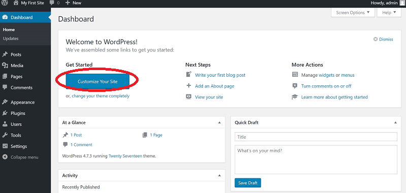 Install WordPress on localhost wamp