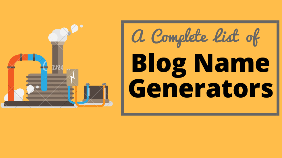 Blog name generators