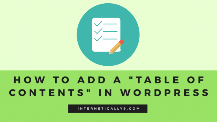 table of contents wordpress